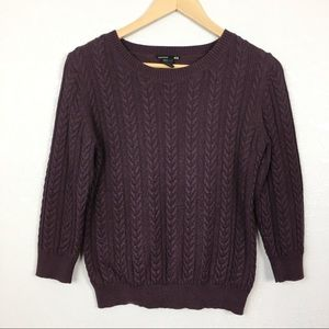 H&M Cable-knit 3/4 Sleeve Sweater